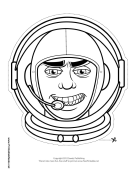 Male Astronaut Mask to Color