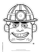 Male Caver-Miner Mask to Color