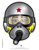 Female Fighter Pilot Mask