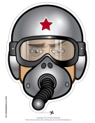 Male Fighter Pilot Mask