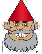 Gnome with Beard Mask
