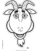 Goat Mask to Color