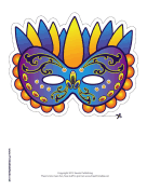 Mardi Gras Celebration Mask