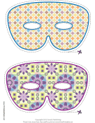 Simple Mardi Gras Mask