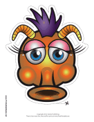 Silly Monster with Horns Mask