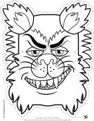 Wolfman Monster Mask to Color