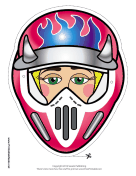 Female Motocross with Horns Mask