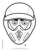 Male Motocross Mask to Color
