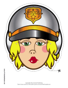 Female Motorcycle Cop Mask