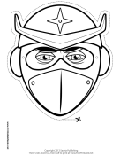 Ninja Star Mask to Color