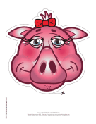Pig with Bow Mask