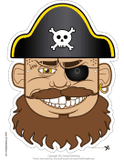 Hat Pirate Mask