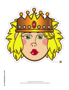 Queen with Crown Mask