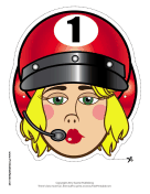 Female Racecar Driver Mask