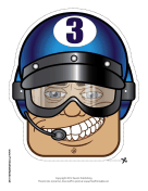 Male Racecar Driver Goggles Mask