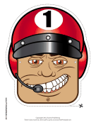 Male Racecar Driver Mask