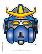 Robot with Horns Crest Mask