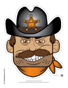 Male Sheriff Mask