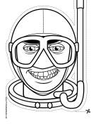 Male Skin Diver Mask to Color