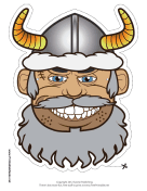 Male Viking with Horns Mask