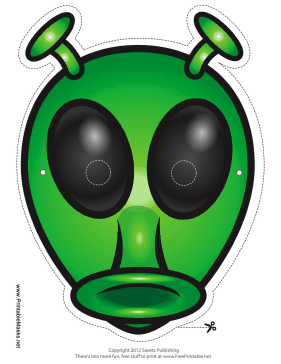 Alien with Antenna Mask Printable Mask