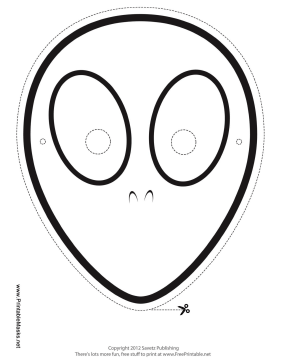 Alien Mask to Color Printable Mask
