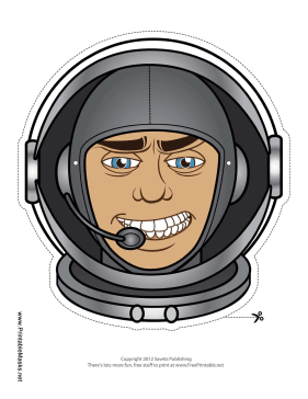 Male Astronaut Mask Printable Mask