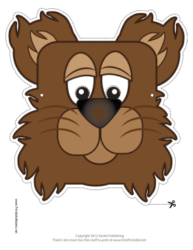 Bear Mask Printable Mask