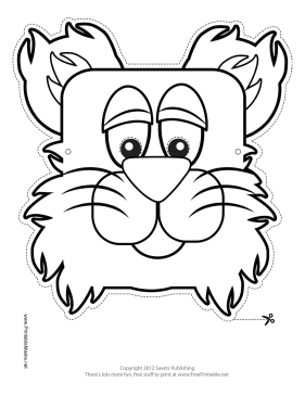 Bear Mask to Color Printable Mask