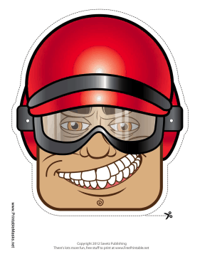 Male Biker Mask Printable Mask