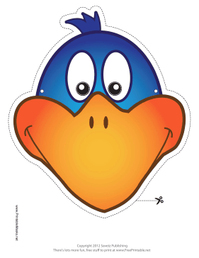 photo about Free Printable Masks named Printable Chicken Mask Mask