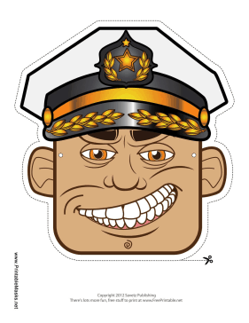 Male Captain Mask Printable Mask