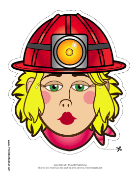 Female Caver-Miner Mask Printable Mask