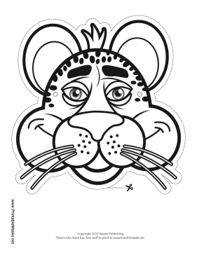 Cheetah Mask to Color Printable Mask