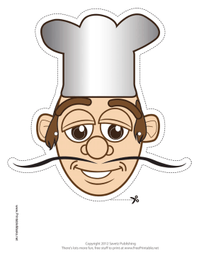 Chef Mask Printable Mask