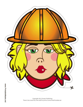 Female Construction Worker Mask Printable Mask