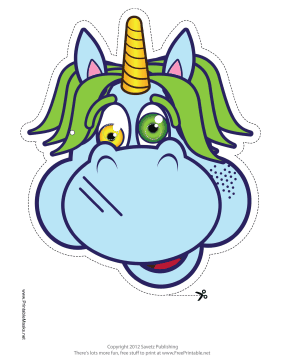 Crazy Unicorn Mask Printable Mask