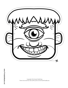 Male Cyclops Mask to Color Printable Mask
