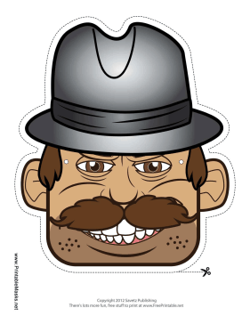 Male Detective Mask Printable Mask