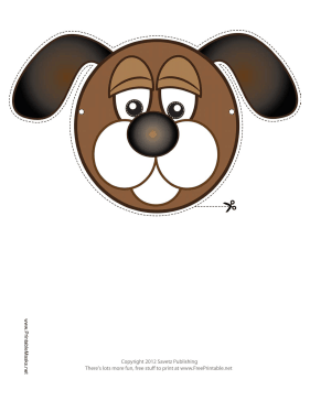 Dog Mask Printable Mask