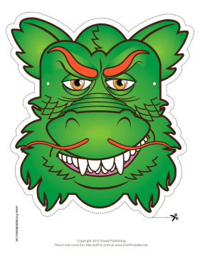 Chinese Dragon Mask Printable Mask