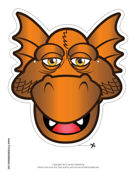 Drowsy Dragon Mask Printable Mask