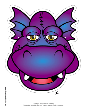 Smiling Dragon Mask Printable Mask