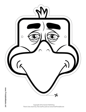 Eagle Mask to Color Printable Mask