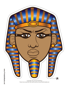 Printable egyptian pharaoh mask mask for Egyptian masks templates