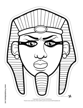 Egyptian Pharaoh Mask to Color Printable Mask