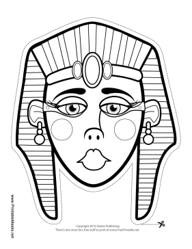 Printable egyptian queen mask to color mask for Egyptian masks templates