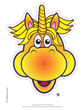 Excited Unicorn Mask Printable Mask