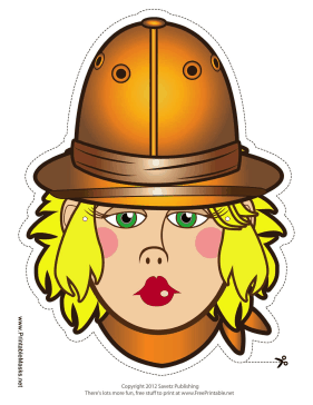 Female Explorer Mask Printable Mask