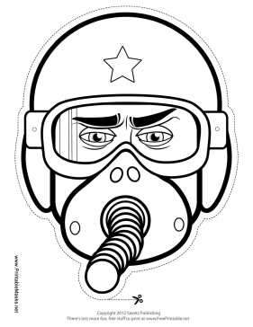 Printable male fighter pilot mask to color mask male fighter pilot mask to color printable mask pronofoot35fo Gallery